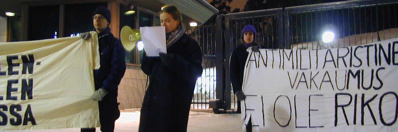 Mielenosoitus Mäntyniemessä