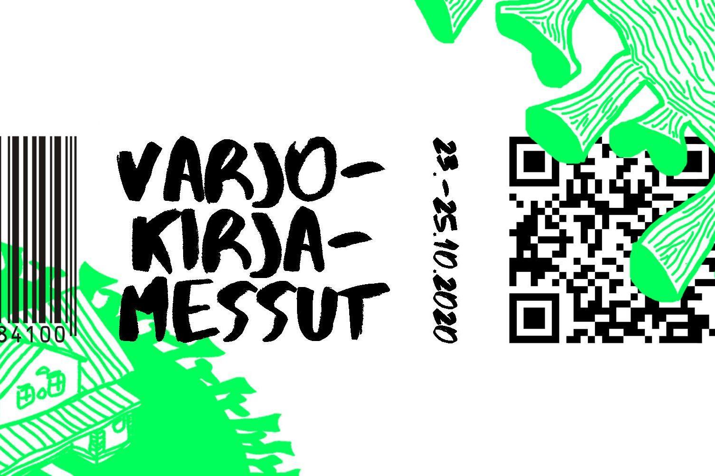 Varjokirjamessujen banneri, jossa päivämäärä 23.-25.10.