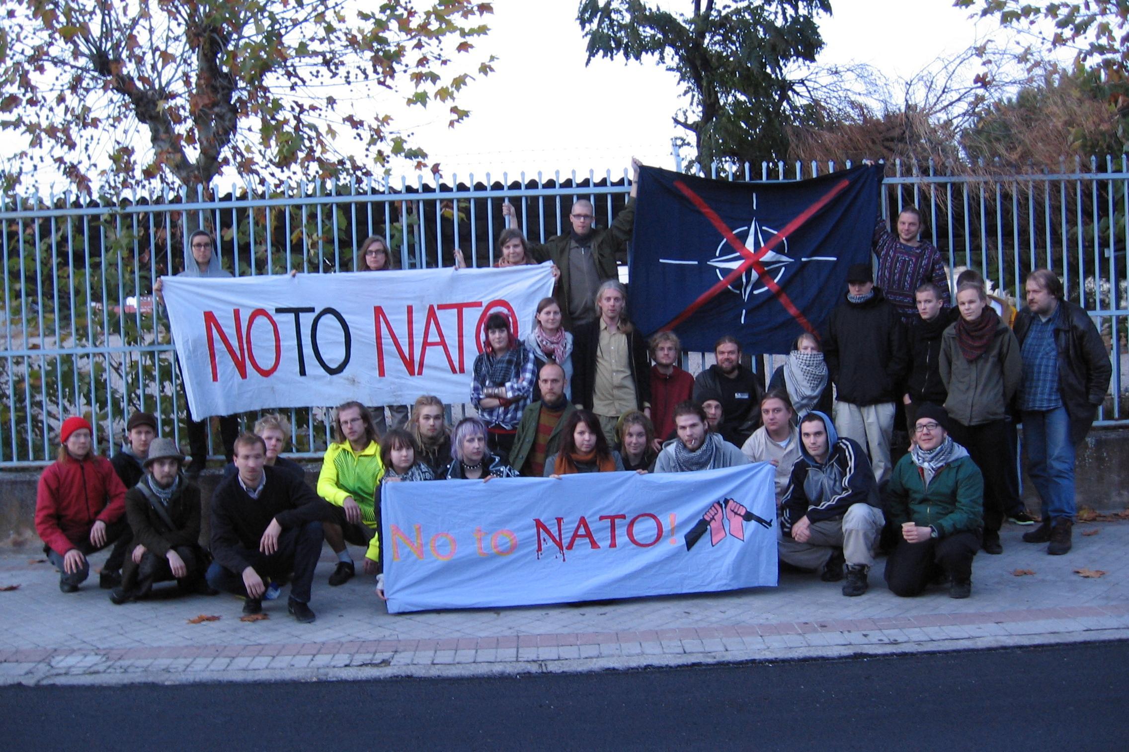 NATO-matkalaiset Salamancassa Espanjassa