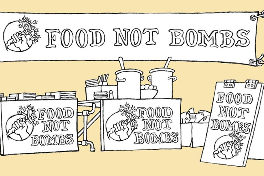 Food Not Bombs banneri
