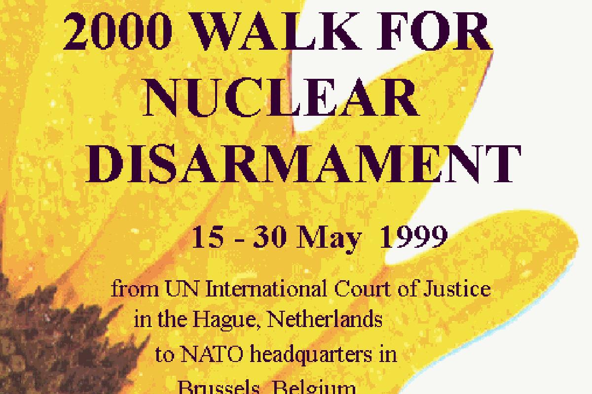 2000 Walk for Nuclear Disarmament juliste